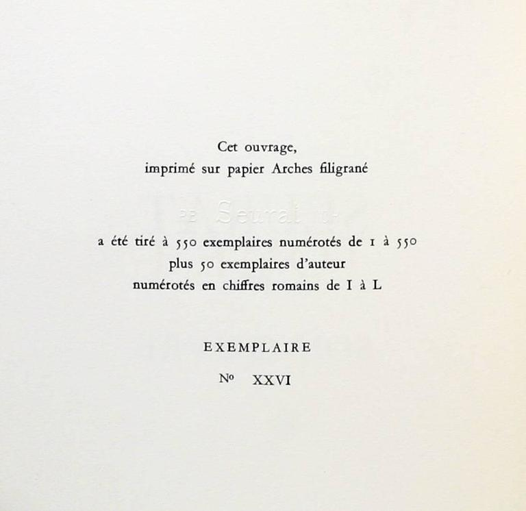 Georges Seurat Catalog Raisonne, One of Only 50 Copies For Sale 1