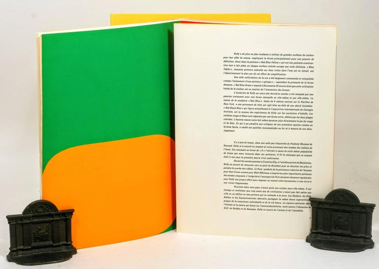 Mid-20th Century Signed Limited First Edition of Derrière Le Miroir No. 149: Ellsworth Kelly For Sale