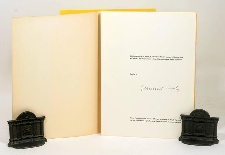 Signed Limited First Edition of Derrière Le Miroir No. 149: Ellsworth Kelly For Sale 1
