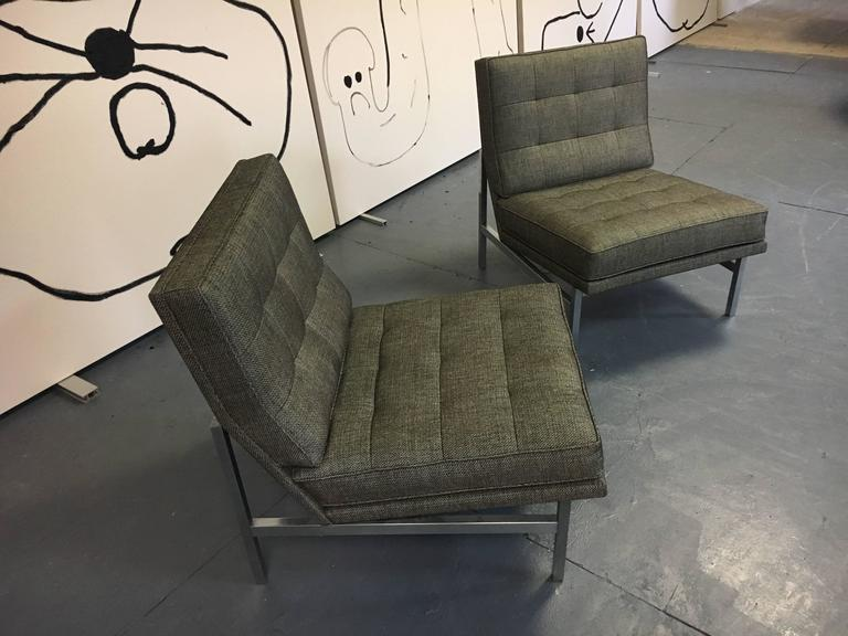 Pair of Florence Knoll Lounge Chairs for Knoll, circa 1960s 2