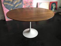 Eero Saarinen Walnut Tulip Dining Table for Knoll