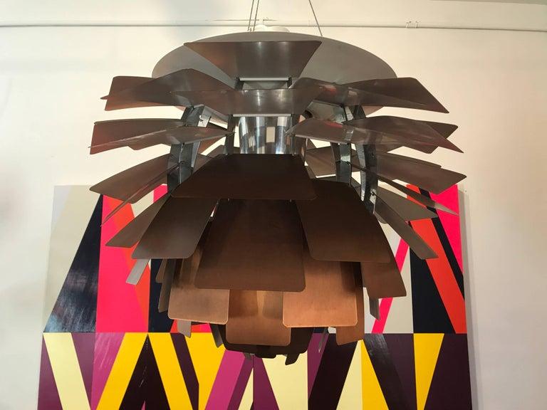 Mid-Century Modern Early Poul Henningsen Artichoke Copper Lamp, Louis Poulsen, Denmark For Sale