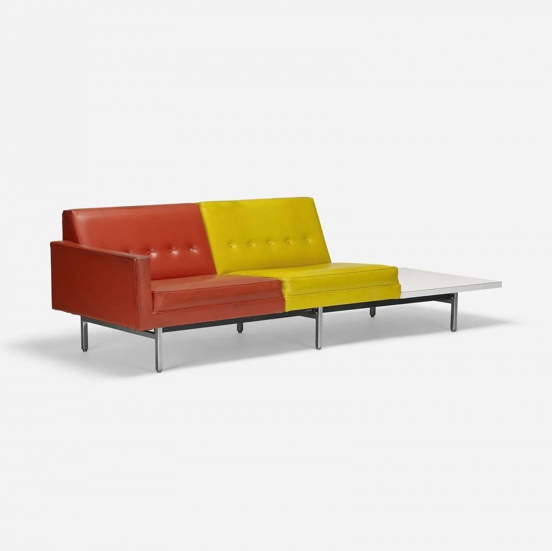 George Nelson Steel Frame Modular Sofa Herman Miller 1956 At 1stdibs