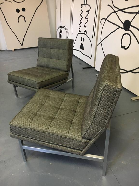 Pair of Florence Knoll Lounge Chairs for Knoll, circa 1960s 3
