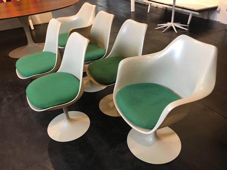 American Set of Six Eero Saarinen Tulip Chairs, 1956 Knoll International For Sale