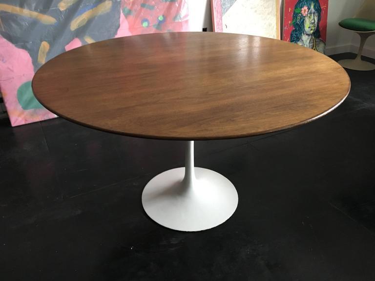 Eero Saarinen Walnut Tulip Dining Table for Knoll 2