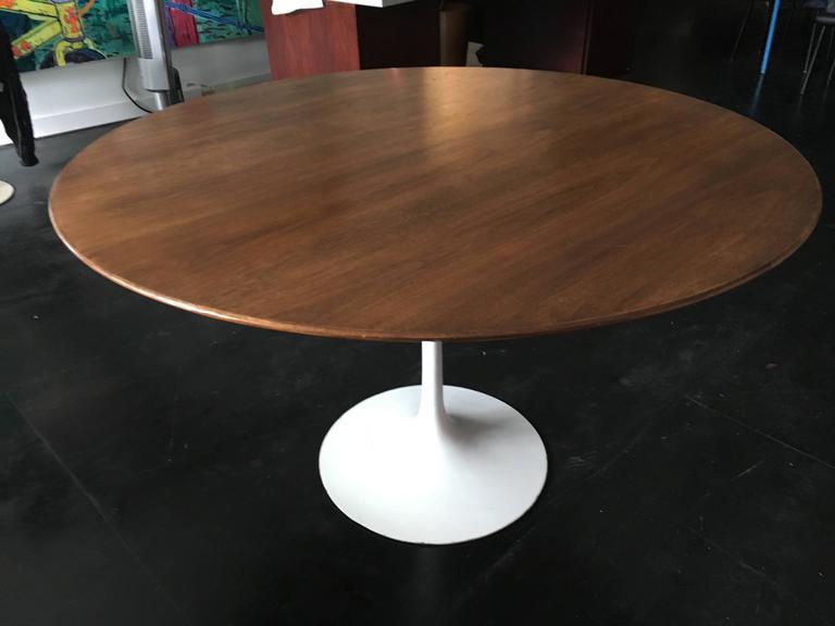 Eero Saarinen Walnut Tulip Dining Table for Knoll 5