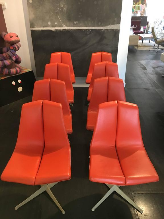 Set of Eight Richard Schultz Dining Chairs Knoll, 1961 4