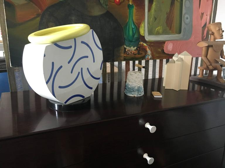 """""""Cucumber"""" Vase by Martine Bedin 1985 Memphis Milano In Excellent Condition For Sale In Brooklyn, NY"""