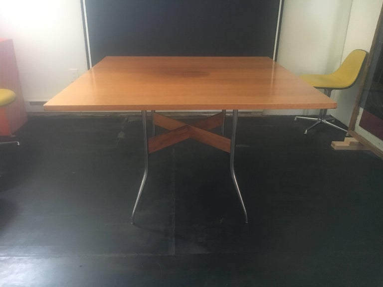 "Rare George Nelson Square ""Swag Leg"" Dining Table for Herman Miller, 1950 4"