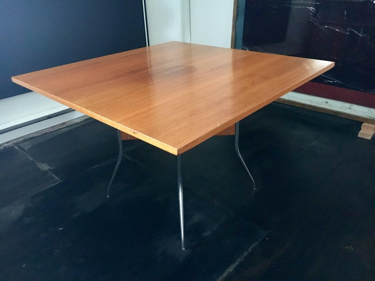 "Rare George Nelson Square ""Swag Leg"" Dining Table for Herman Miller, 1950 6"