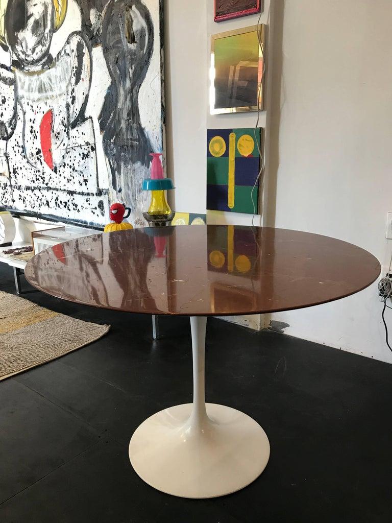 Eero Saarinen Marble Tulip Table Knoll For Sale 1