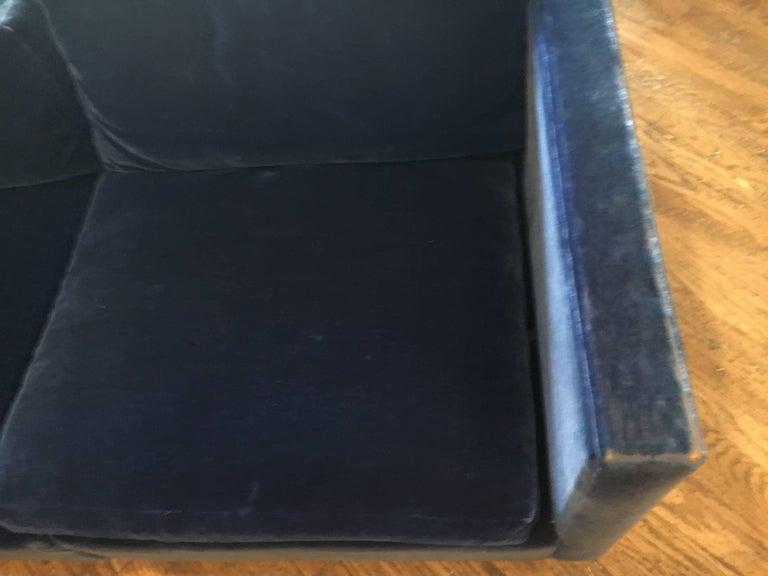 Velvet Sectional Sofa by Charles Pfister for Knoll For Sale 3