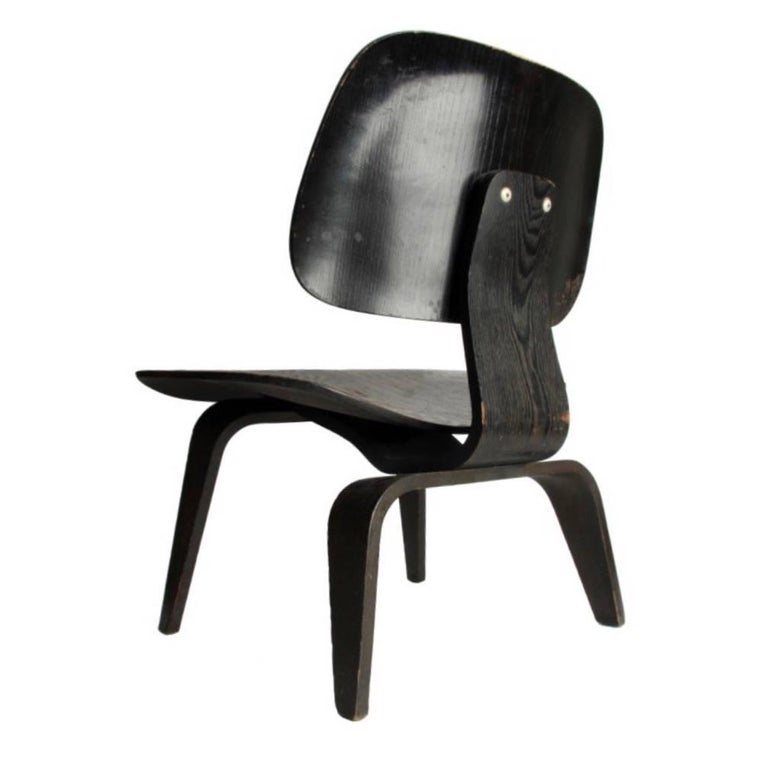 Charles & Ray Eames Black Aniline LCW Chair Herman Miller 4