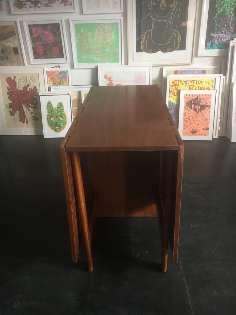 George Nelson Walnut Gate-Leg Dining Table by Herman Miller 8