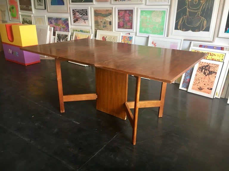 George Nelson Walnut Gate-Leg Dining Table by Herman Miller 3
