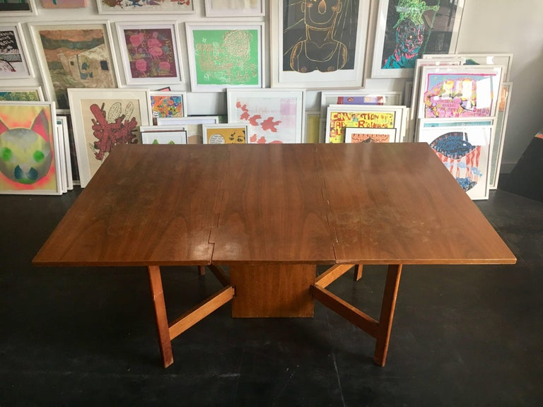 George Nelson Walnut Gate-Leg Dining Table by Herman Miller 5