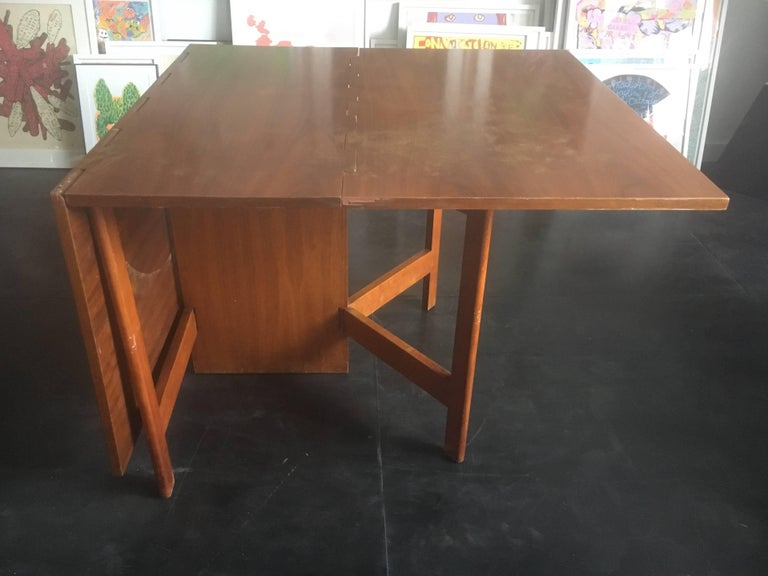 George Nelson Walnut Gate-Leg Dining Table by Herman Miller 7