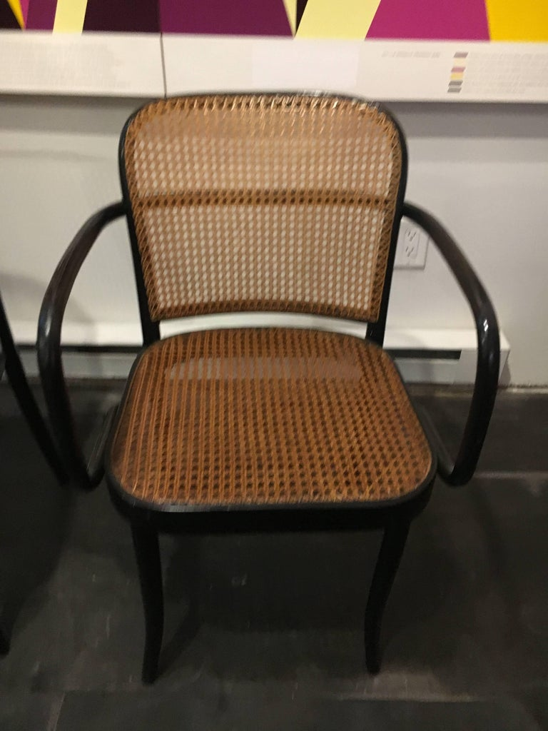 Set of Six Modern Cane Dining Chairs Josef Frank In Excellent Condition For Sale In Brooklyn, NY