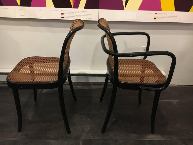 Set of Six Modern Cane Dining Chairs Josef Frank For Sale 1