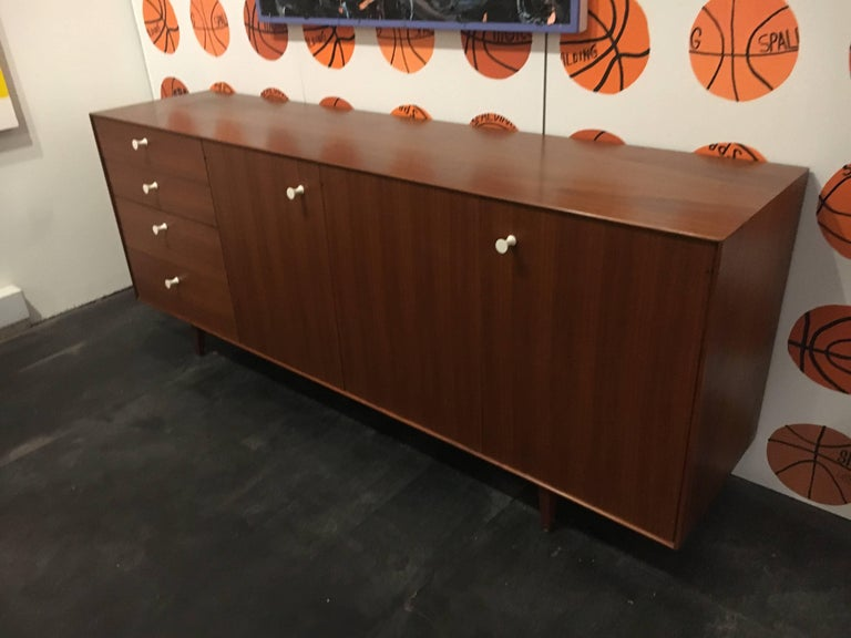 Mid-Century Modern George Nelson Walnut Thin Edge Credenza by Herman Miller For Sale