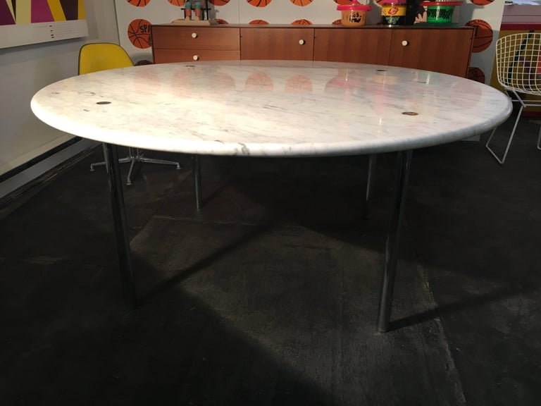 American Estelle & Erwin Laverne Marble Dining Table, USA, 1950s For Sale
