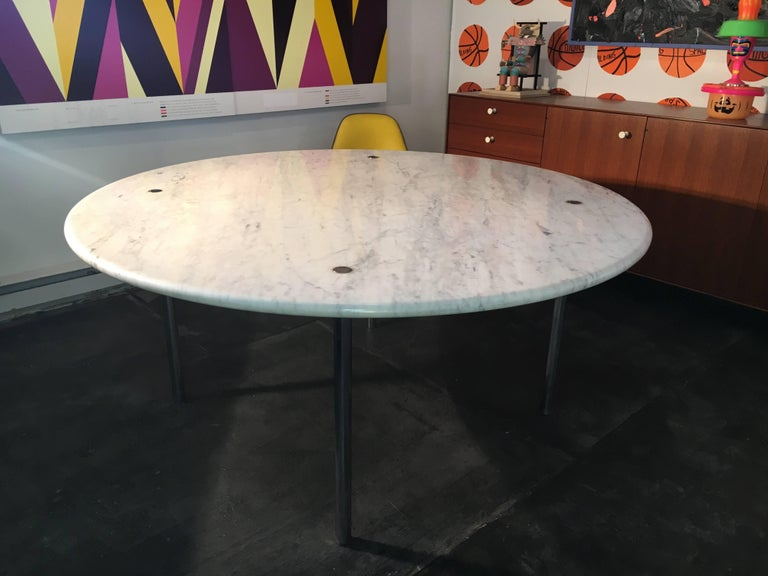 Mid-20th Century Estelle & Erwin Laverne Marble Dining Table, USA, 1950s For Sale