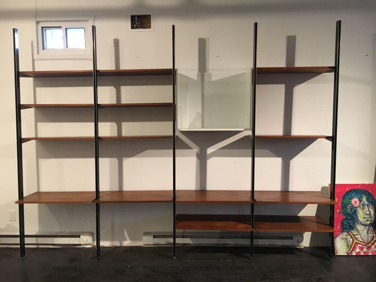 Four bay CSS (comprehensive storage system), designed by George Nelson for Herman Miller.