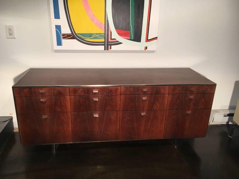 American Davis Allen Walnut Credenza for GF, Mid-Century Modern For Sale