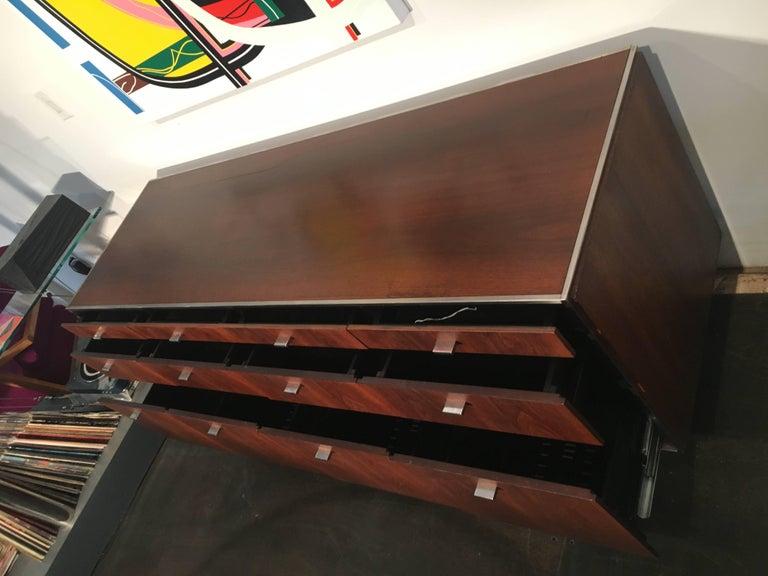 Mid-20th Century Davis Allen Walnut Credenza for GF, Mid-Century Modern For Sale
