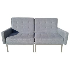 Florence Knoll Split Settee Lounge Chair Set for Knoll, circa 1960s