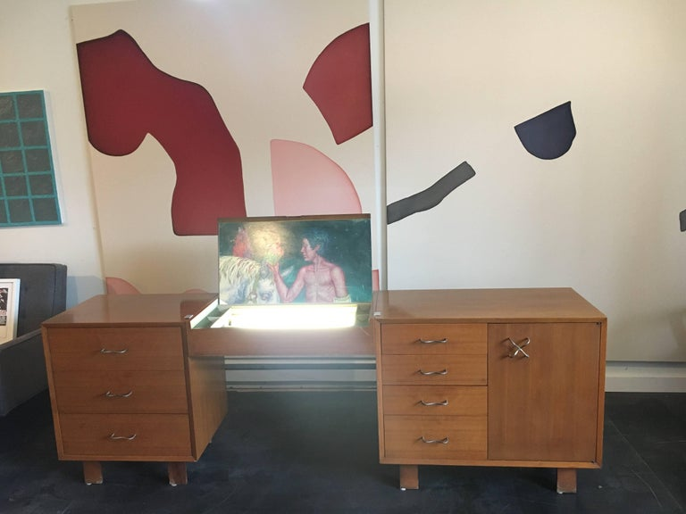 American George Nelson Credenza/Dressers with Vanity/Desk Herman Miller, 1950 For Sale
