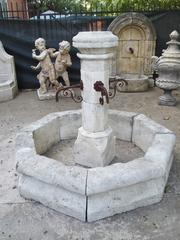 Hand Carved Limestone Center Fountain From France