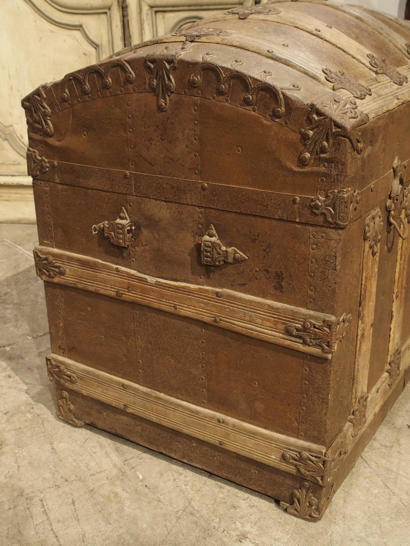 Antique American Barrel Top Travel Trunk Circa 1885 At 1stdibs