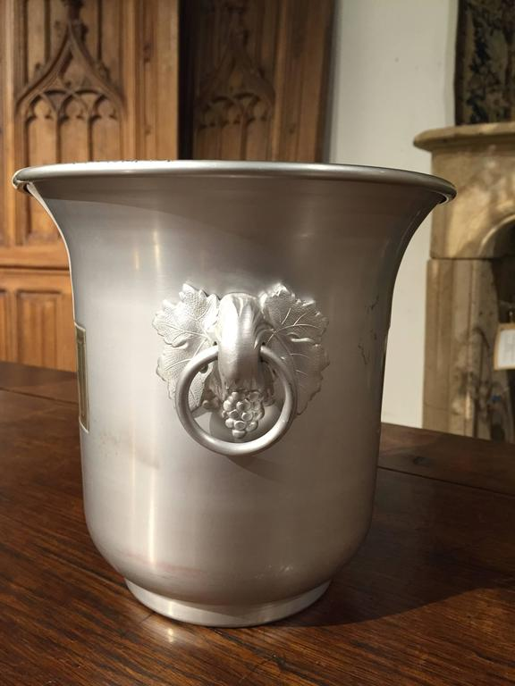 Taittinger Reims Vintage French Champagne Bucket In Good Condition For Sale In Dallas, TX
