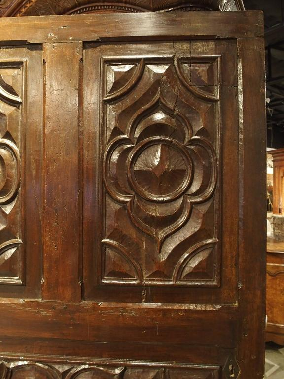 17th Century Carved Walnut Door from the Languedoc Region of France In Good Condition For Sale In Dallas, TX