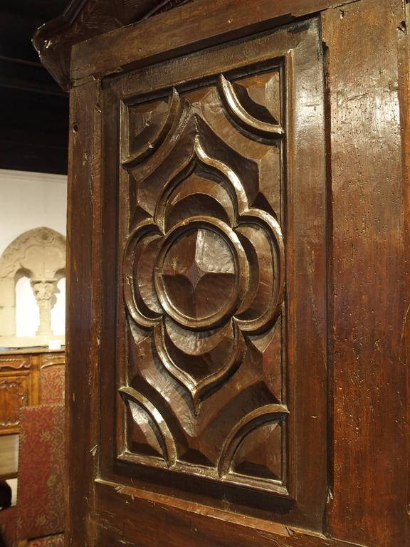 18th Century and Earlier 17th Century Carved Walnut Door from the Languedoc Region of France For Sale