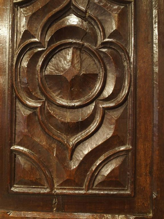17th Century Carved Walnut Door from the Languedoc Region of France For Sale 1
