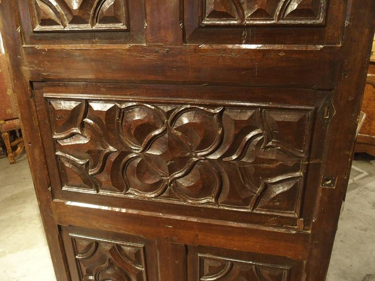 17th Century Carved Walnut Door from the Languedoc Region of France For Sale 2