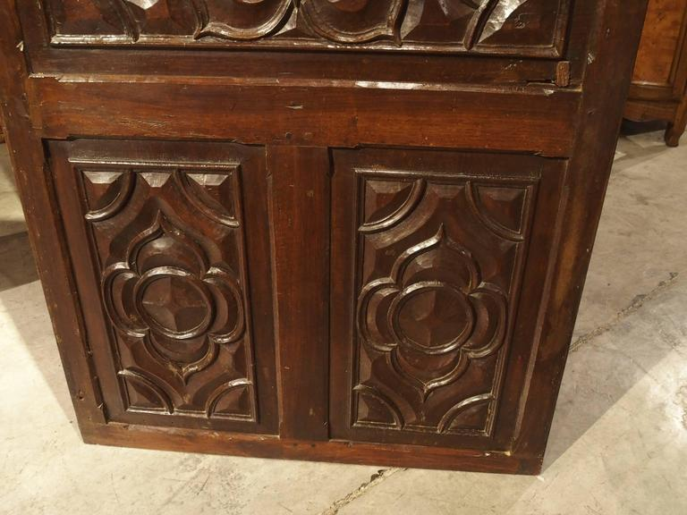 17th Century Carved Walnut Door from the Languedoc Region of France For Sale 3