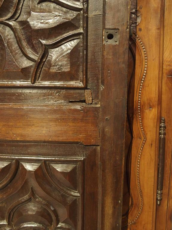 17th Century Carved Walnut Door from the Languedoc Region of France For Sale 4
