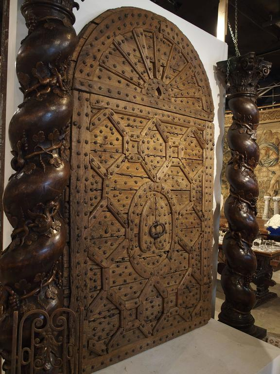 Magnificent 17th Century Monastery Door From Spain For