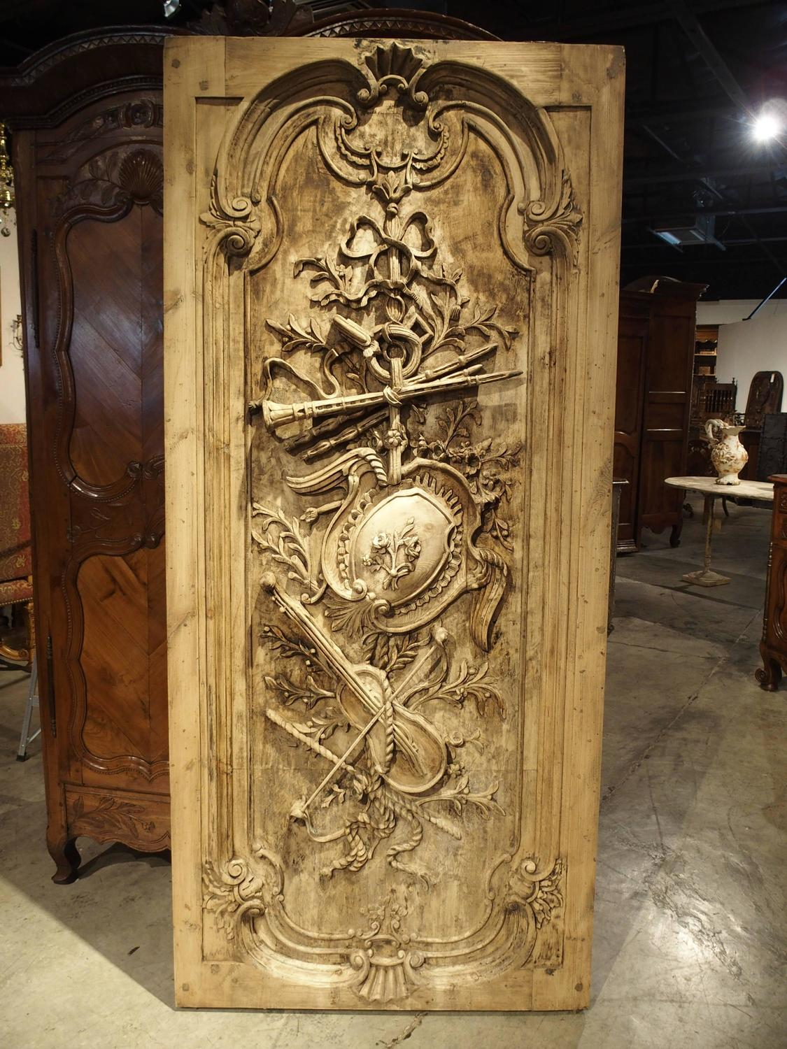 Large Louis Xvi Style Carved Door Or Panel From France At