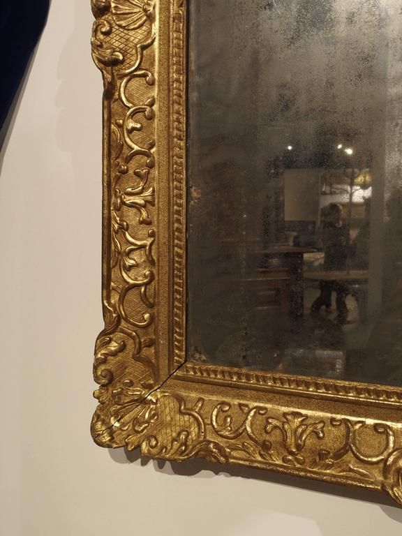 Period Louis Xiv Giltwood Mirror Circa 1700 Provence At