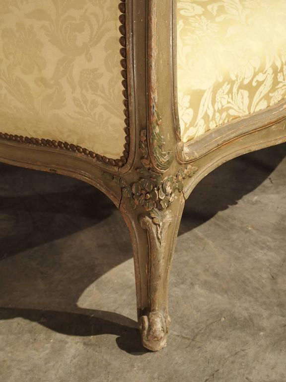 Painted Antique French Louis XV Style Canapé, 19th Century In Good Condition For Sale In Dallas, TX