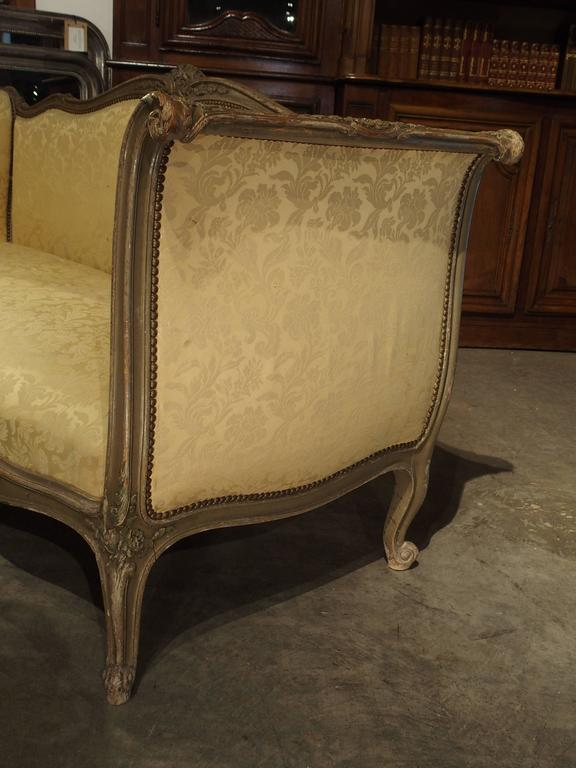 Painted Antique French Louis XV Style Canapé, 19th Century For Sale 3