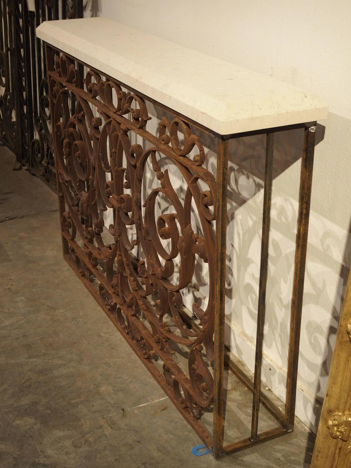Antique balcony gate console from france 19th century at for Balcony console