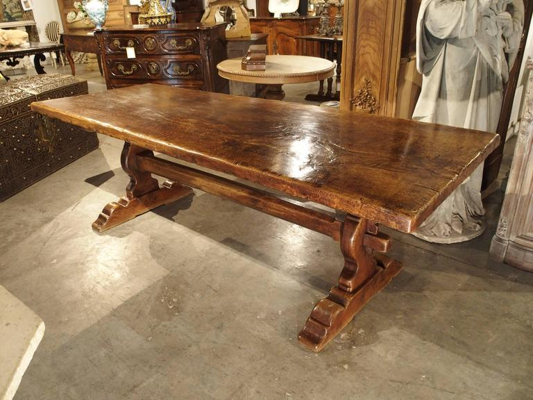 Bon The Top Of This Beautiful Table Is A Single Piece Of Solid French Oak! There
