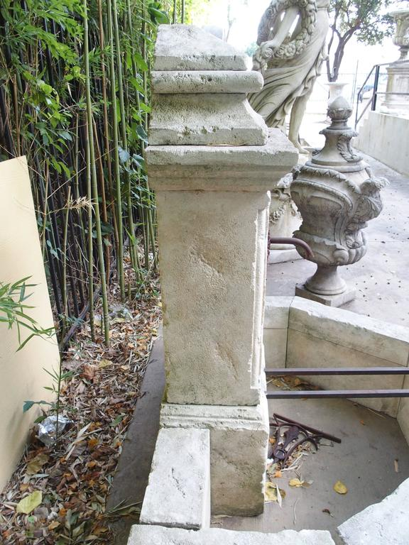 Carved Limestone Wall Fountain from France For Sale 1