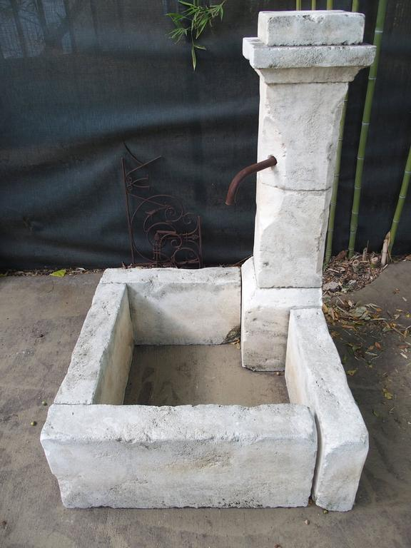 Carved Limestone Corner Fountain from France For Sale 1